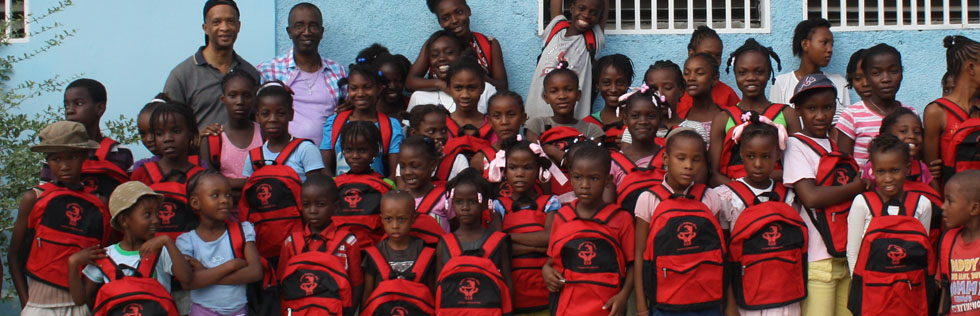 H.O.W is distributing thousands of book bags throughout Haiti.